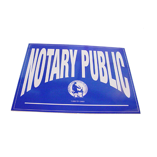 Kansas Notary Public Decal