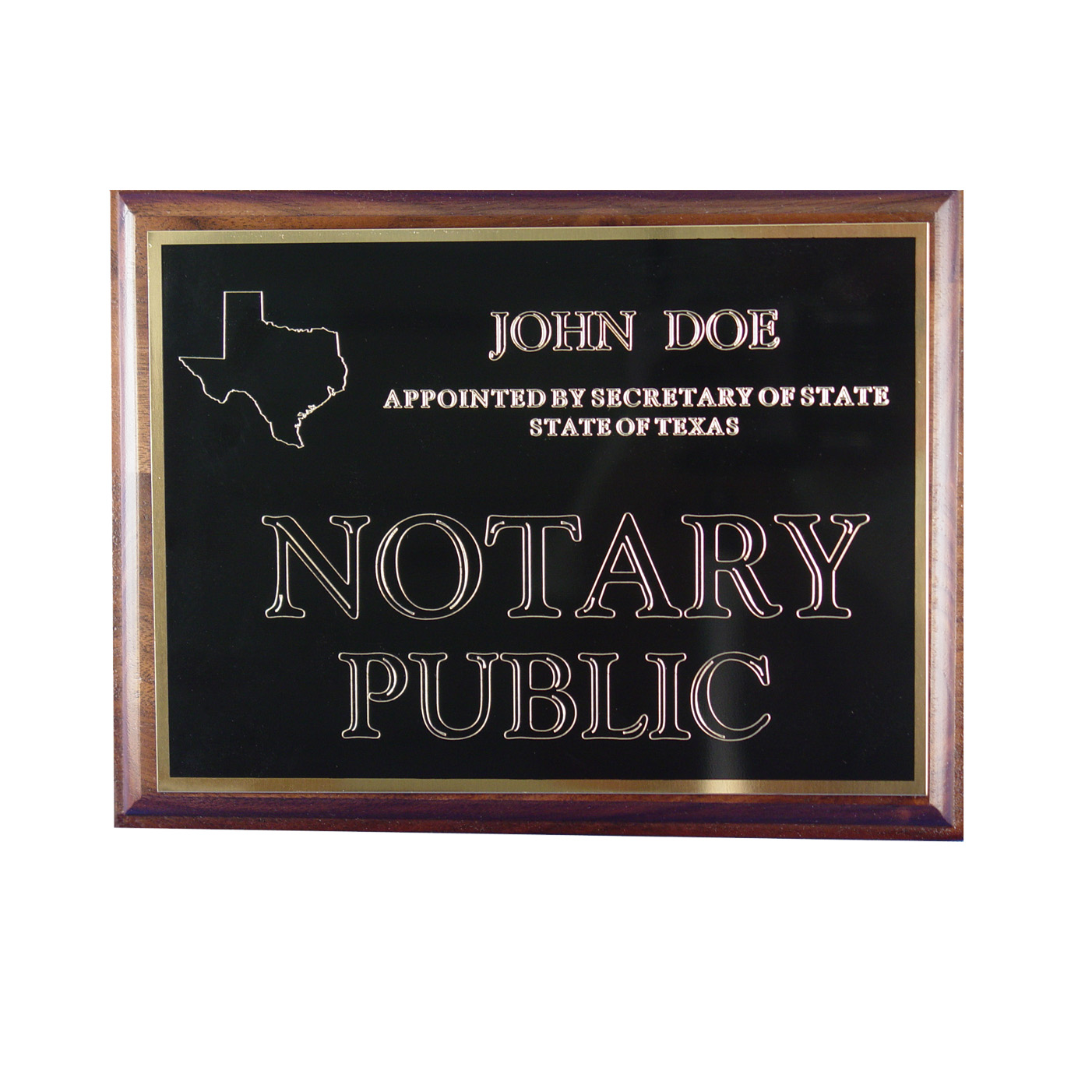 Kansas Notary Wall Sign
